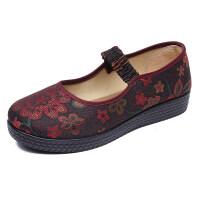 春秋老北京布鞋女鞋中老年平跟妈妈鞋软底老人鞋防滑舒适奶奶单鞋