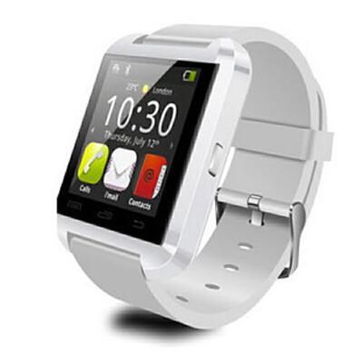 U8蓝牙手表触屏计步震动通话手镯智能穿戴手表小米手环手机伴侣器 白色 蓝牙连接就可以在手表上随时随地拨打电话