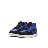 Nike/耐克�和� Jordan 1 Mid AJ1黑�{小童�\�踊@球鞋 AR6352-077