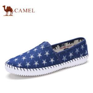 camel骆驼男鞋 秋季新品 帆布鞋男鞋韩版潮布鞋套脚休闲鞋