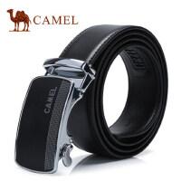 Camel骆驼腰带新款男士牛皮皮带商务休闲自动扣裤带 男青年潮
