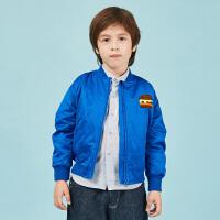 【2件88/3件8折后到手价:279.2元】马拉丁童装男童夹克春装可爱汉堡刺绣外套