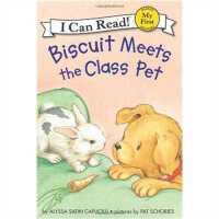 小饼干狗 英文原版 绘本汪培�E书单推荐 0-3岁 Biscuit Meets the Class Pet