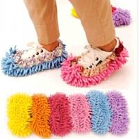 普润雪尼尔懒人鞋套 擦地拖鞋客人脚套 拖把头清洁鞋套 1双