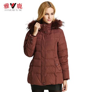 雅鹿秋冬女士女款羽绒服 加肥加厚大码羽绒服 中老年装 妈妈装 YP4132B