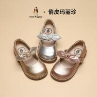 【超品�r:128.8元】暇步士童鞋公主皮鞋女童甜美�L2020秋季新款蝴蝶�Y中小童�底�涡�