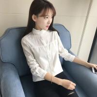 衬衫 女士职业小立领花边领长袖春秋季韩版新款女式时尚休闲百搭学生衬衣