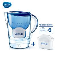 碧然德(BRITA) 过滤净水器 家用滤水壶 净水壶 金典 Marella3.5L蓝色 1壶6芯