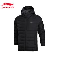 李宁短款羽绒服男士训练系列保暖冬季90%白鸭绒运动服AYMM051