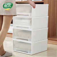抽屉式收纳箱塑料储物箱整理箱衣服物家用宿舍衣柜内衣内裤收纳盒