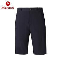 【书香节】Marmot/土拨鼠户外运动男士休闲弹力透气速干短裤