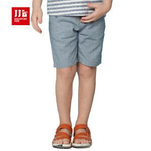 jjlkids季季乐童装男童透气舒适休闲夏季五分布裤中小童薄款