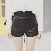 女士显瘦PU皮裤时尚超短靴裤个性紧身性感热裤2017新款促销 黑色