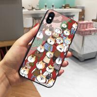 卡通柴犬苹果8plus手机壳新年猪年iPhone7保护套个性创意6s防摔网红6明星同款x情侣8女xs max全新xr玻