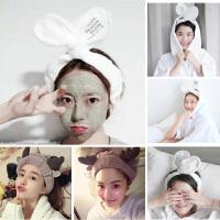 兔子耳朵束发带居家洗脸发带化妆敷面膜运动束发头饰发箍