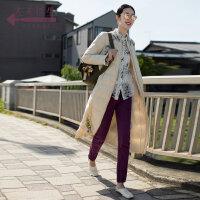 生活在左2018新款秋冬时装周女长款复古白鸭绒修身时尚羽绒服加厚