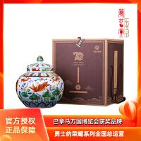勇士的荣耀(15)典藏老酒(五彩鱼藻纹盖罐)3.5L