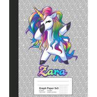 预订 Graph Paper 5x5: ZARA Unicorn Rainbow Notebook [ISBN:978