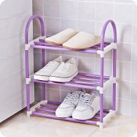 炫彩四层简易塑料鞋架拆装组合多层鞋子收纳架组装创意鞋柜置物架