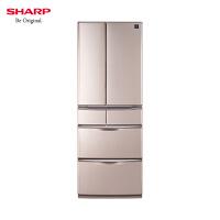 夏普(Sharp) SJ-XF47A-T 452升 原装进口风冷无霜PCI净离子群速冻自动制冰除臭变频家用多门冰箱璀璨金