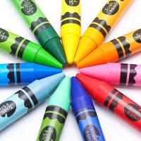 美乐蜡笔儿童安全无毒可水洗宝宝画笔套装幼儿园开学用品36色24色小学生幼儿绘画涂鸦笔彩笔水溶性油画棒蜡笔