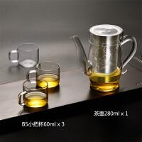 过滤隔耐热不锈钢内胆冲茶器泡茶壶红茶杯功夫壶红茶茶具玻璃茶具