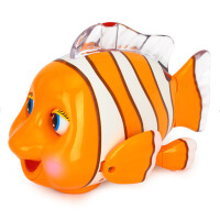 电动旋转玩具音乐爬行2岁宝宝神奇乐宝鱼车机灵小丑鱼