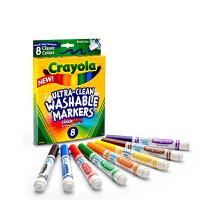 Crayola绘儿乐 58-7808 可水洗8色粗头水彩笔(经典色) 当当自营