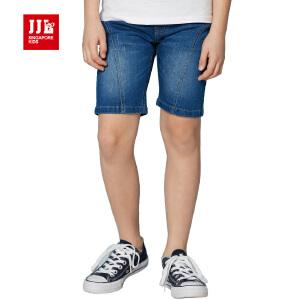 jjlkids季季乐童装男童牛仔舒适透气休闲夏季牛仔五分裤中大童薄款