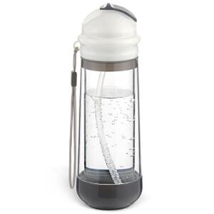 居元素水晶芯吸管杯儿童便携玻璃杯创意柠檬水杯随手杯