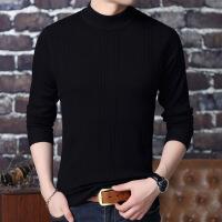 冬季羊绒衫男纯羊绒加厚半高领毛衣男士保暖羊毛衫X-6398