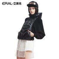ERAL/艾莱依冬时尚针织蝙蝠袖拼接短款羽绒服女休闲外套2006D