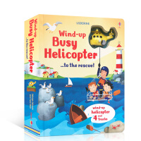 Usborne系列 英文原版 WIND-UP BUSY HELICOPTER TO THE RESCUE 繁忙的直升机