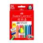 德国辉柏嘉三角可擦蜡笔24色幼儿园彩色塑料蜡笔儿童画画蜡笔赠卷笔刀橡皮