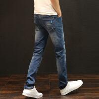 新款直筒牛仔男牛仔裤男士弹力修身直筒韩版潮流青少年秋冬季新款休闲长裤子男生u005