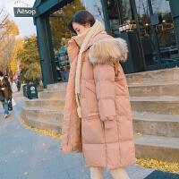 大码冬装外套秋冬季外穿a版棉衣孕妇羽绒孕后期韩版宽松棉袄