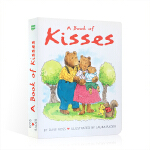 【发顺丰】英语启蒙认知绘本 A Book of Kisses 亲吻 硬皮纸板撕不烂 Dave Ross著 英文启蒙 睡