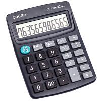 得力计算器 得力1255计算器 得力桌上型计算器 12位显示计算机