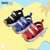【159元任选2双】天美意童鞋男童凉鞋2020夏季新款儿童软底学步鞋魔术贴包头沙滩鞋