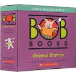 Bob Books Animal Stories 12册盒装 二阶段鲍勃阅读 动物故事 儿童启蒙图画书 英文原版