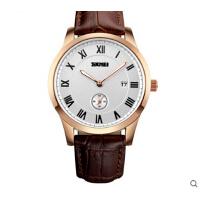 简约商务 男士皮带石英手表防水个性男表潮流时尚腕表