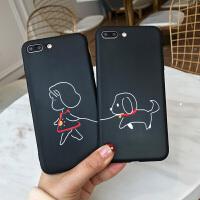 苹果7手机壳可爱小女孩iphone6splus创意卡通女款7p情侣个性保护套8全包软边防摔8plus潮款男款X可挂绳硅