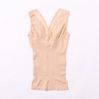 秋冬保暖内衣蕾丝托胸女士塑身美体收腹束腰背心修身无袖打底上衣QS0239
