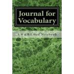 预订 Journal for Vocabulary: A 6 x 9 Lined Notebook [ISBN:978
