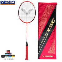 威克多Victor胜利羽毛球拍全碳素单拍 全面型HX-990荧光红(4U)/HX-990荧光红(3U)王适娴用拍
