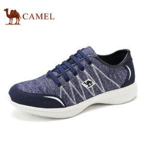 【领券下单立减111元】camel骆驼男鞋 新品 针织布鞋面透气轻盈日常休闲鞋男