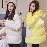 孕后期宽松大肚子棉衣孕妇冬装韩版加厚棉袄外套