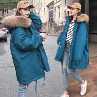 冬季孕后期棉袄韩版宽松大码棉衣孕妇秋冬款外穿冬装外套
