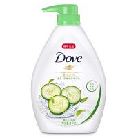 多芬(Dove)沐浴露 清透水润 清爽水润沐浴乳1KG黄瓜+绿茶