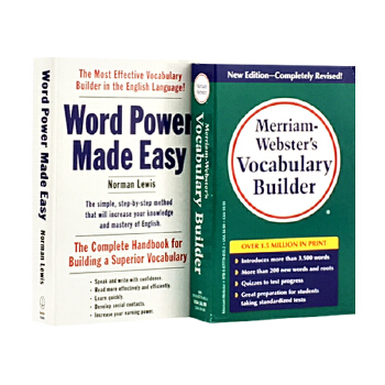 韦氏字根词典 单词的力量 英文原版 Merriam-Webster s Vocabulary Builder+Word Power Made Easy 套装